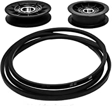 Transmission Traction Drive Belt & Pulley Repair Kit for JD Sabre 14.542GS, 1642HS, Scotts L1742, L2048, L2548, 17.542HS, GX20006, GX20286, GX20287