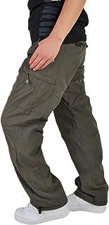 Ropa de Exterior para Hombre Pantalones tácticos Impermeable Resistente al Viento Forro Grueso Abrigado con Bolsillos con ...