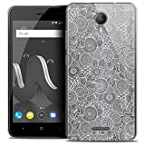 Ultra-Slim Floral Lace Case for 5 Inch Wiko Jerry 2, White
