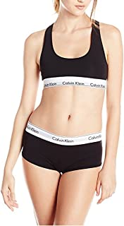 Calvin Klein Women's Modern Cotton Bralette and Boyshort Set