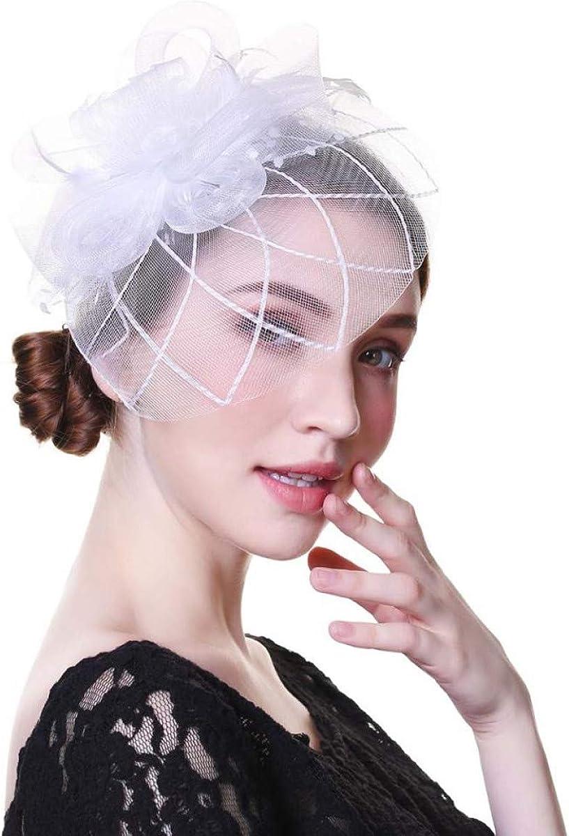 MELLOW SHOP Ranking TOP1 Ranking TOP12 Fascinators Hat for Women K Tea Headband White Party