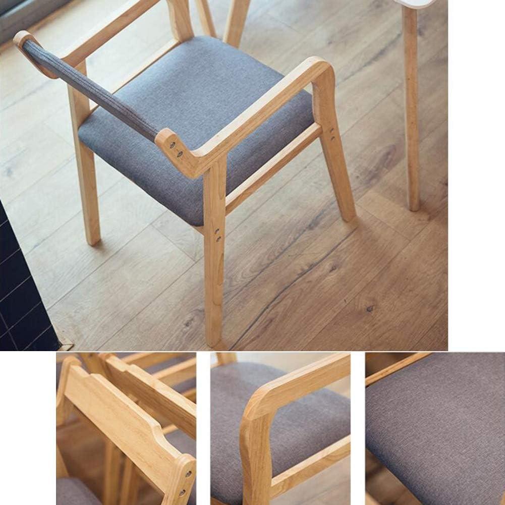WYYY chaises Bois Massif Chaise De Salle À Manger Simple Moderne Chaise De Loisirs En Bois Chaise De Bureau Assemblé Durable fort (Color : Gray) Gray