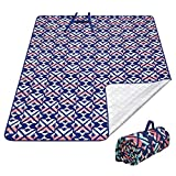 KingCamp Extra Large Outdoor Picnic Blanket Waterproof SandProof Picnic Blanket Machine Washable Beach Blanket Lightweight Beach Mat Portable Picnic Mat for Travel Camping Hiking(Rosered,78' X 59')