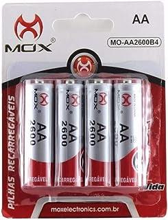 PILHA RECARREGÁVEL Blister Com 4 Pilhas AA-2600mAH 1,2 Ni-MH MOX