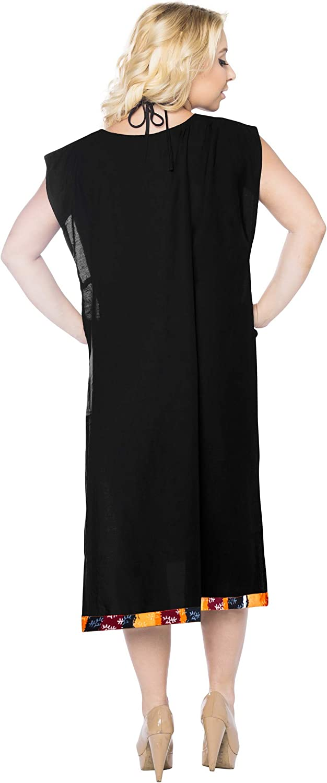 LA LEELA Bikini Swim Beach wear Swimsuit Cover ups Women Kimono Dress Solid