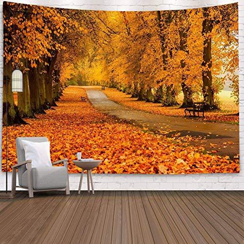 N/A Impresión 3D tapices Tapiz de Pared con Estampado 3D de Bosque con Paisaje Natural de Lago de árbol, Tapiz de Pared estético para Dormitorio, Tapiz Negro Grande y Bonito de Lujo