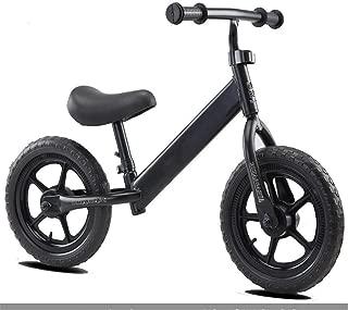 Balance para Niños De 2-6 Años, Andador, Scooter para Niños, Neumático De Bicicleta Sin Pedales,Negro