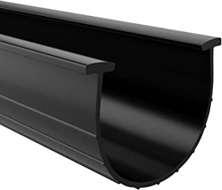 Garage Door Bottom Weather Seal T-Ends 20 feet Long and 3.75 Inches Width, Black Strip with T-Ends Size 5/16 Inches, Garage Rubber Seal Replacement