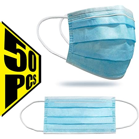 Bandana Face-Mouth Cover Sommerschal Einfarbig Multifunktionstuch Baumwolle Adult 3 Schutzschichten Atmungsaktive Mundbedeckung ZZXIAN 50 St/ück Einmal-Mundschutz