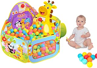 S.K.L Kids Ball Pit Baby Play Tent, Ball Pit Pool with Basketball Hoop (Balls Not Included)