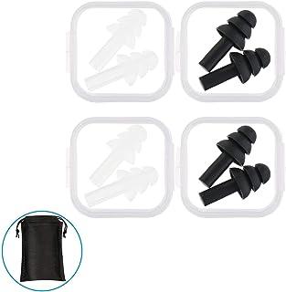 スイム イヤープラグ スイミング 用 水泳 耳栓 防音 睡眠用 ソフトシリコン防止 聴覚保護 水洗い可 再使用可能 携帯ケース付き