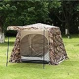 Maybesky Festzelt Camouflage Printed Doppel Outdoor Camping Zelt wasserdicht Moskitonetz Fenster 5-8 Zelte 100% Wasserdichtes Familien-Campingzelt