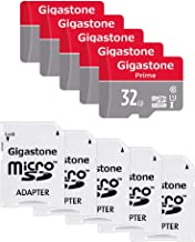 Gigastone Micro SD Card 32GB 5-Pack MicroSD HC U1 C10 with Mini Case and SD Adapter High Speed Memory Card Class 10 UHS-I Full HD Video Nintendo Dashcam Gopro Camera Samsung Canon Nikon DJI Drone