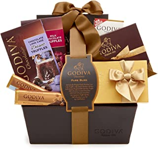 Godiva Chocolatier Assorted Chocolate Pure Bliss Gift Basket, Classic Ribbon, 32.3 Ounce