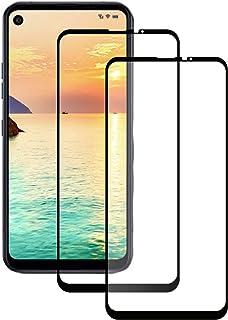 LPCJ. Kompatibel med LG Q70 skärmskydd, härdat glas, [2-pack], 9H hårdhet, kristallklarhet, repbeständig, skärmfilm för LG...