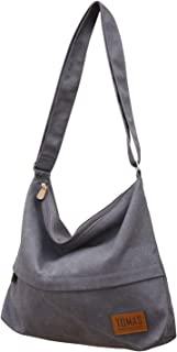TOMAS Women Casual, Simple, Fashion, Lightweight,Durable Canvas Hobo Bag, Single Shoulder Bag Totes Bag Crossbody Bag