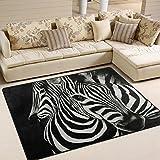 ZZKKO Teppich für Wohn-/Schlafzimmer, Zebra-Motiv, multi, 4'x5'(120x160 cm)
