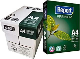 Report Premium A4 Paper 80gsm FSC White - Made in Brazil - Pack of 2500 Sheets
