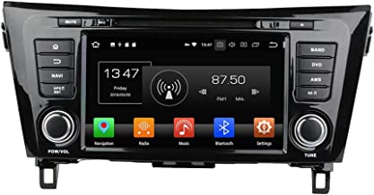 KUNFINE Android 9.0 Otca Core 4GB RAM Car DVD GPS Navigation Multimedia Player Car Stereo for Nissan Qashqai/X-Trail 2014 Steering Wheel Control 3G WiFi Bluetooth Free Map Update 8 Inch