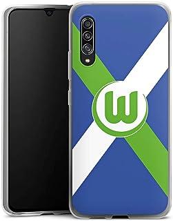 DeinDesign Silikon Hülle kompatibel mit Samsung Galaxy A90 5G Case transparent Handyhülle VFL Wolfsburg Offizielles Lizenzprodukt Bundesliga