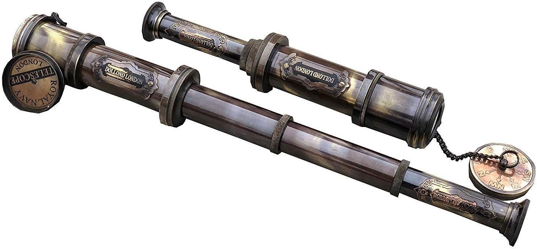 Gift Superlatite Vintage Brass Antique Handheld Nautical Telescope Spyglass NEW before selling