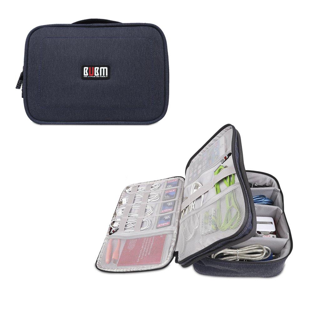 BUBMは美しいDPSパワーパックデジタルアクセサリー仕上げパッケージ収納袋ウォッシュバッグ化粧品袋iPad収納(大29 * 23 * 8 CM、青)でなければならない