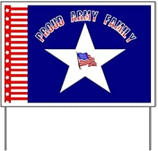 Proud Army Family Yard SignYard Sign, Vinyl Lawn Sign, Political Election Sign