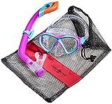 Aqua Lung Sport La Costa Junior Pro Dive Kinder 2er Set (Tauchmaske & Schnorchel) inkl. Beutel - Pink