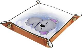 Plateau à bijoux Bébé Koala Plateau de rangement pour bijoux en cuir Petite boîte de rangement Organisateur de désordre 2...