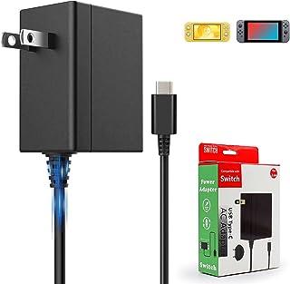 Switch OLED/Switch/Switch Lite用充電器 Switch ACアダプター ドック代用品 TVモード対応 安全保護 USB Type-Cコネクタ Switch ドック Switch本体を急速充電 ケーブル長1.5m 5V...