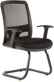 HJH Office 655200 - Silla de Escritorio de Oficina, de Rejilla sintética, Color Negro