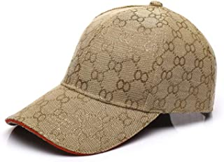 Women Cap,Unisex Fashion Khaki Canvas Gold OO Vintage Baseball Caps Adjustable Sports Tennis Cap for Men Sun Hat