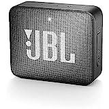 JBL GO 2 Speaker Bluetooth Portatile, Cassa Altoparlante Bluetooth Impermeabile IPX7, Con Microfono, Funzione di Noise Cancelling, fino a 5 Ore di Autonomia, Nero
