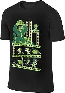 AHDDO Black Amazing Dragon Ball and Mario Men's Short Sleeve T-Shirt
