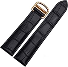 16mm 18mm 20mm Crocodile Skin Pattern Leather Watch Band Strap Buckle for Cartier Tank