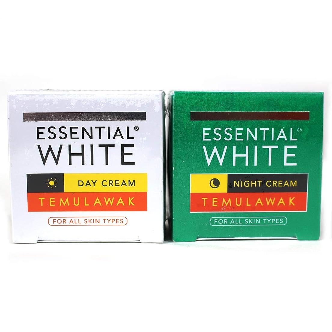 不当強化する農学ギジ gizi Essential White フェイスクリーム ボトルタイプ 日中用&ナイト用セット 9g ×2個 テムラワク ウコン など天然成分配合 [海外直送品]