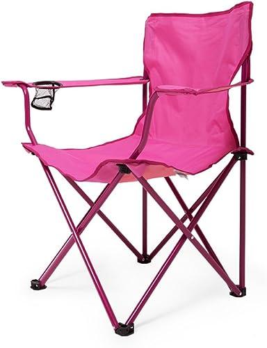 tienda de venta Folding chair Sillas - - - taburetes Plegables, sillas para Acampar al Aire Libre, sillas de Playa de Acero sillas de Pesca Minimalistas Modernas con reposabrazos (Color   A)  orden ahora con gran descuento y entrega gratuita