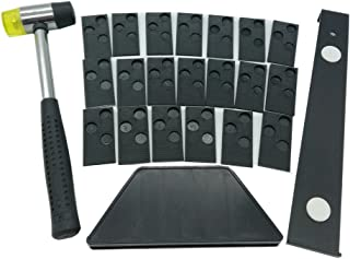 Laminate Wood Flooring Installation Kit with Tapping Block, Pull Bar, Mallet and 20 Spacers #81224