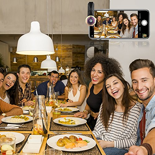Fisheye Lens Wide Angle Bengoo Phone Lens Universal 238 Degrees Clip On Cell Phones Camera Lens Kit for iPhone X/8/Plus Samsung S6/Galaxy S8/Plus//Edges6 Ipad iPod Android iOS and More - Black