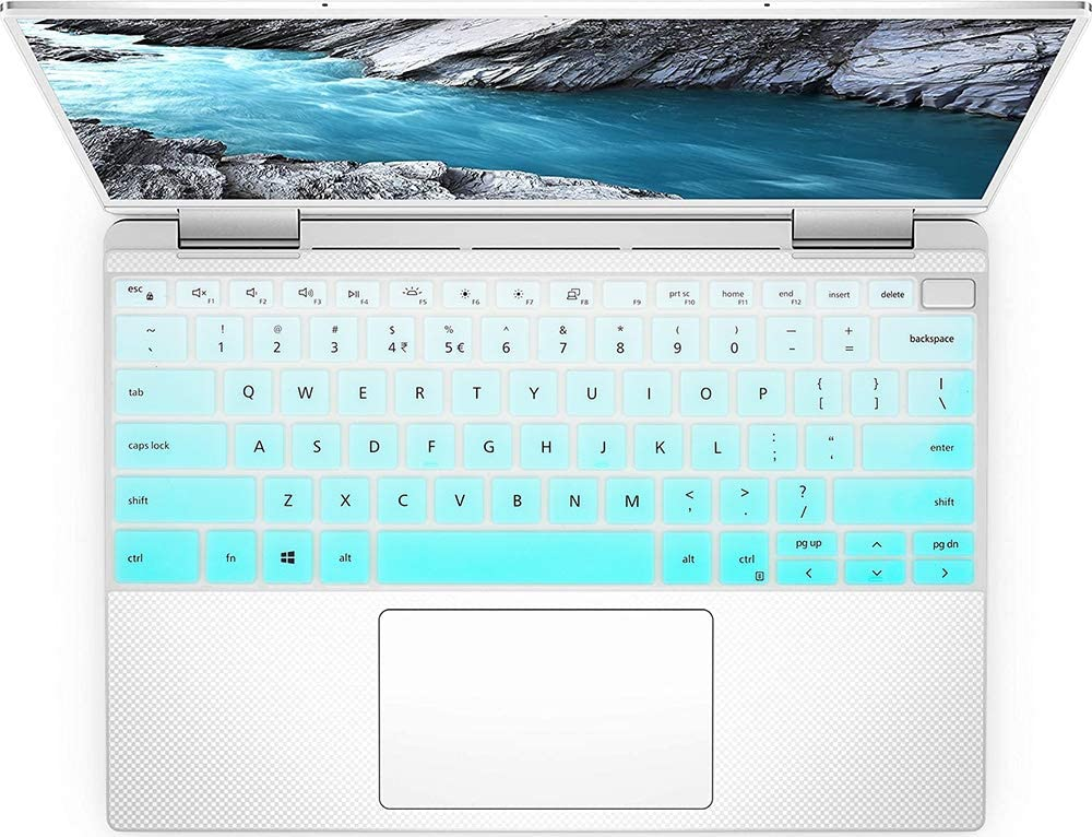 Ultra Thin Keyboard Cover Skin for New 2019 Dell XPS 13 7390 2-in-1 13.3