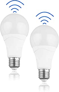 Bombilla LED con sensor de movimiento - 15W (equivalente a 100W), 1500LM, E27 Edison, blanco frío (5000K), bombillas con sensor de movimiento, perfectas para exterior, puerta de entrada, paquete de 2