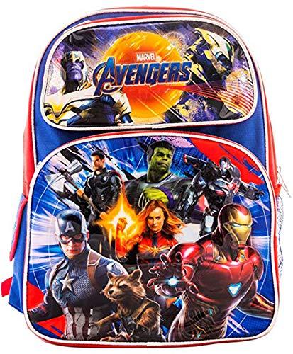 Avengers EndGame Marvel Super Hero Kids 16' School Backpacks Book Bag Travel Case (Large 16')