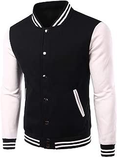 Classic Baseball Jacket Men Bombers Veste Homme 2019 Fashion Soft Cotton College Jacket Black Fleece Varsity Jacket XXXL