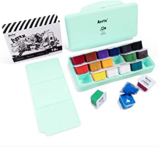 Arrtx Gouache Paint Set, 18 Colors x 30ml Unique Jelly Cup Design, Portable Case with Palette for Artists, Students, Gouac...