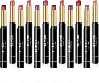 Ownest 12 Colors Matte Lipstick Set, Nude Moisturizing Smooth Waterproof Long Lasting Lips Makeup Set, Durable Velvet Lip Stick Gift Sets