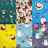 haohaiyo Weihnachtsstoffe Weihnachten Baumwollstoff 6