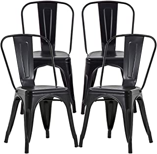 Metal Dining Chairs Set of 4 Metal Chairs Patio Chair 18...