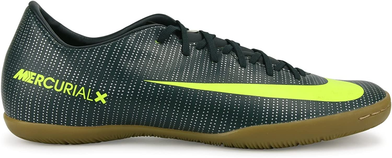 Nike Men's MercurialX Victory VI CR7 Indoor Soccer schuhe Seaweed Volt Hasta Weiß Soccer schuhe - 11A