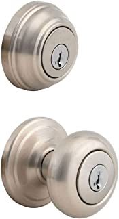 Kwikset 991 Juno Entry Knob and Single Cylinder Deadbolt Combo Pack featuring SmartKey in..