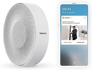 Smart Indoor Siren by Netatmo, Wireless, 110 Decibal Siren, Auto Arm & Disarm, Batteries or Wire Powered, NIS01US